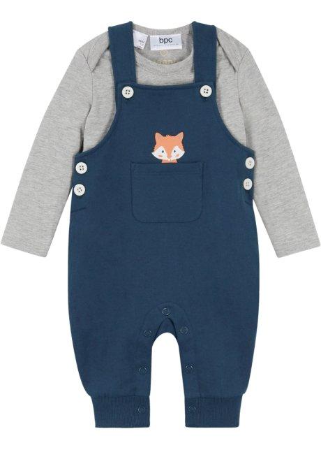Baby Langarmbody + Sweatlatzhose (2-tlg. Set) Bio-Baumwolle, bpc bonprix collection