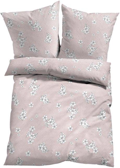 Bettwasche Mit Blumen Design Altrosa Bonprix De