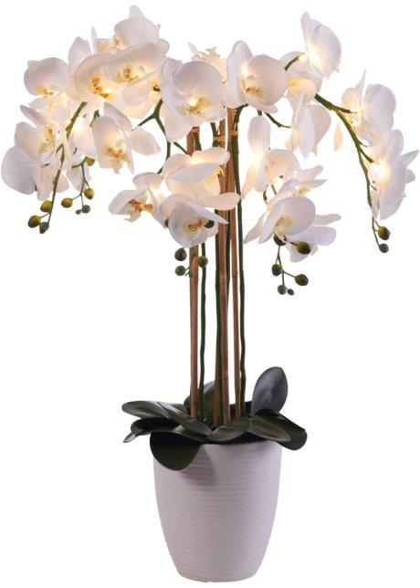Orchidee weiss Kunstblume
