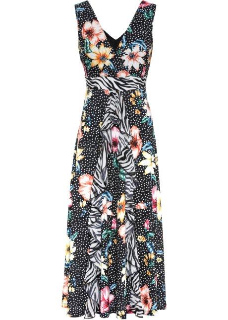 Kleid Mit Muster Schwarz Orange Blau Grun Gelb Weiss Bodyflirt Boutique Online Kaufen Bonprix De