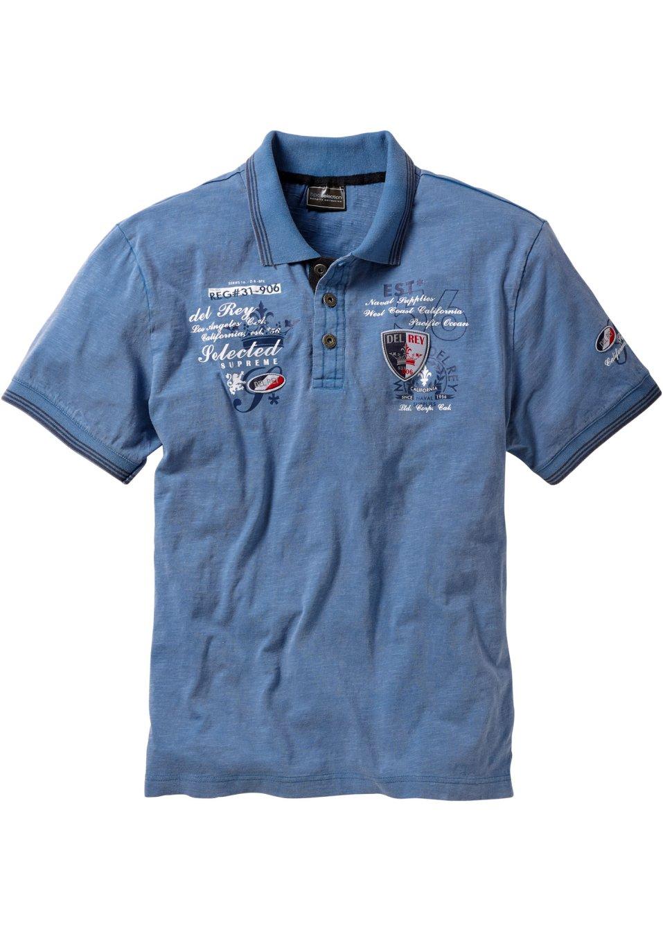 Poloshirt mit aufwendiger Verzierung - jeansblau NuSuH hh06E