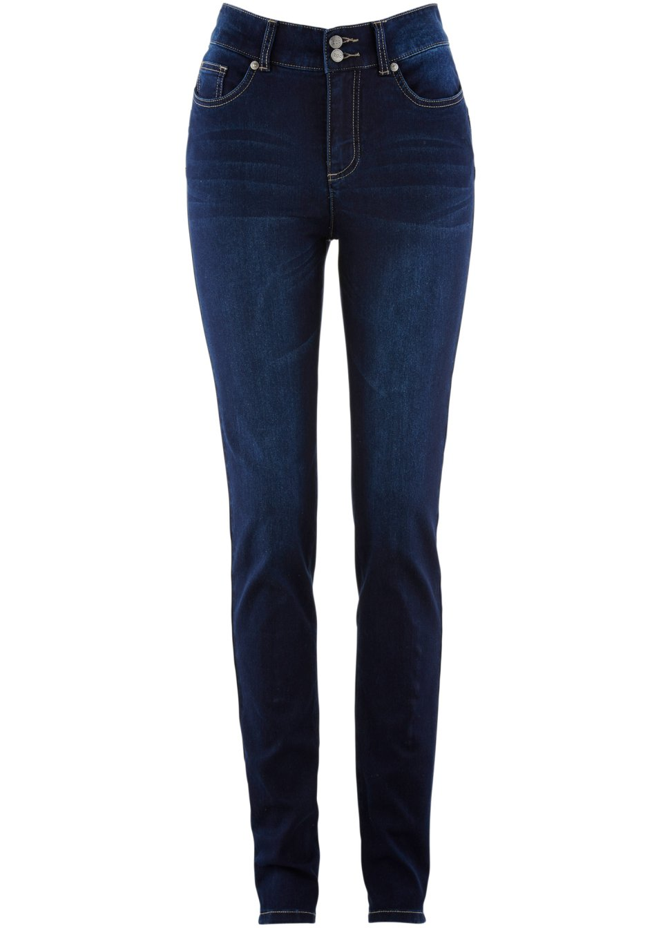 Modische Stretch-Jeans mit Push-up-Effekt - dark denim rOLhT 7kAwz