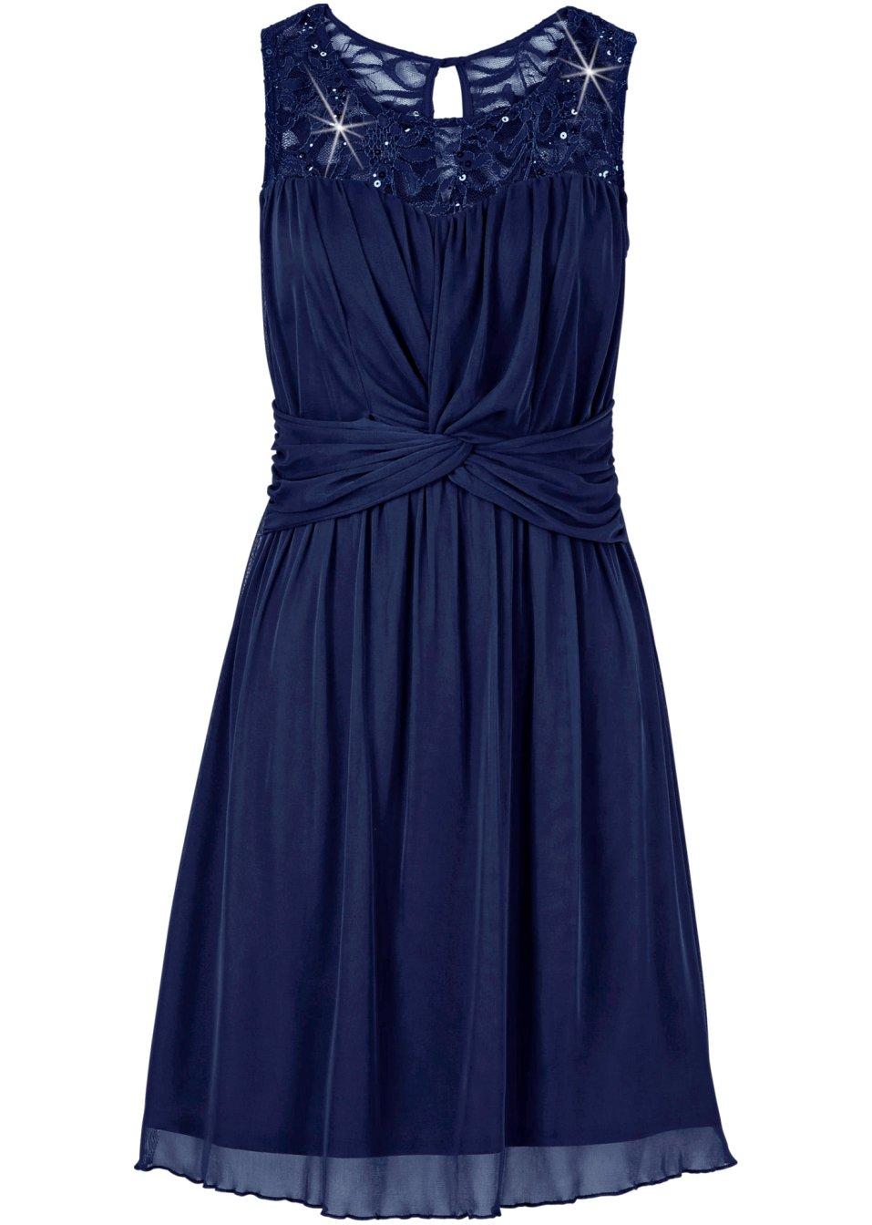 Aufregendes Kleid mit vielen Highlights - dunkelblau D9SDZ OjcfA