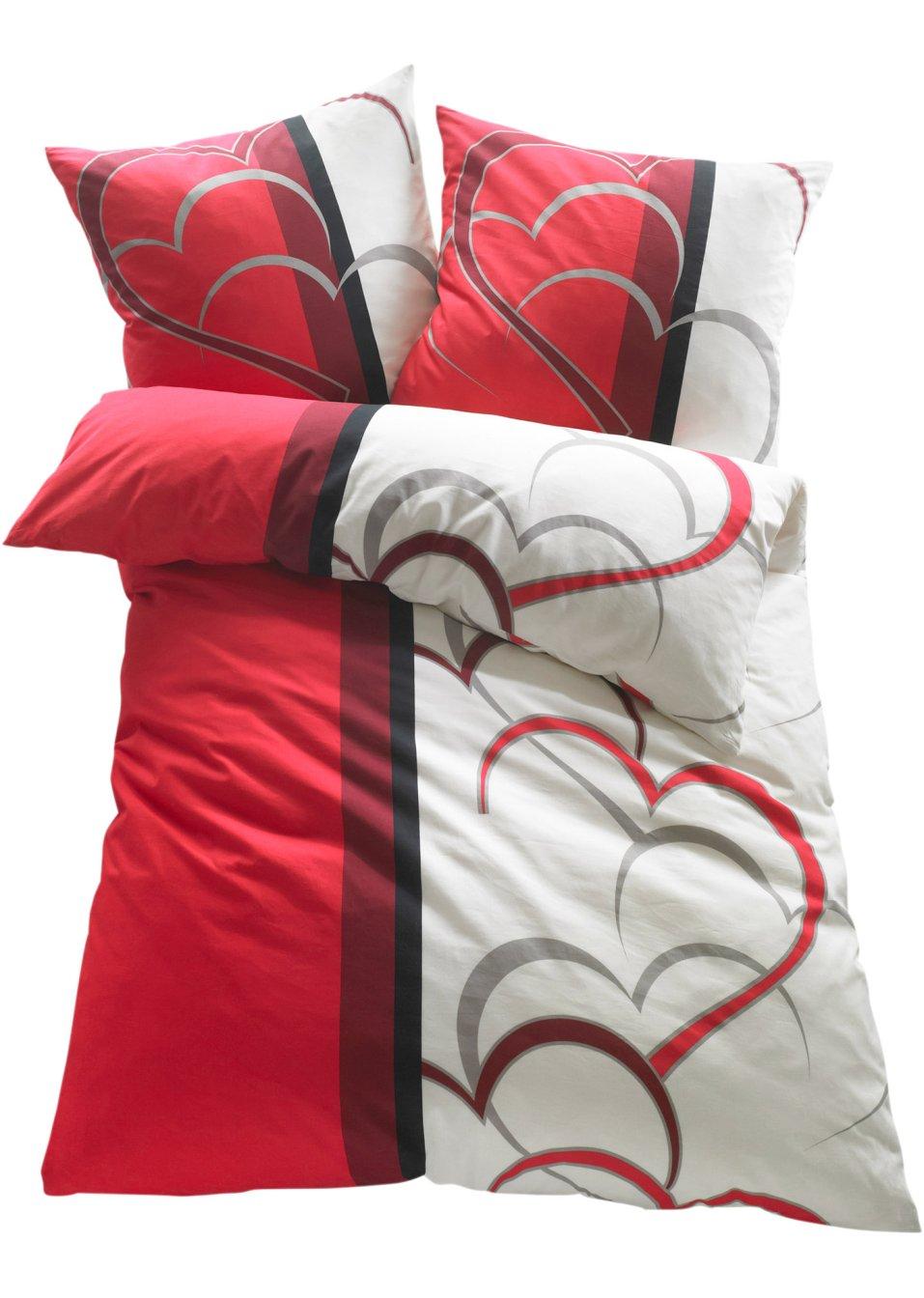 Frohliche Bettwasche Amelie Mit Herzmotiv Fur Ein Romantisches