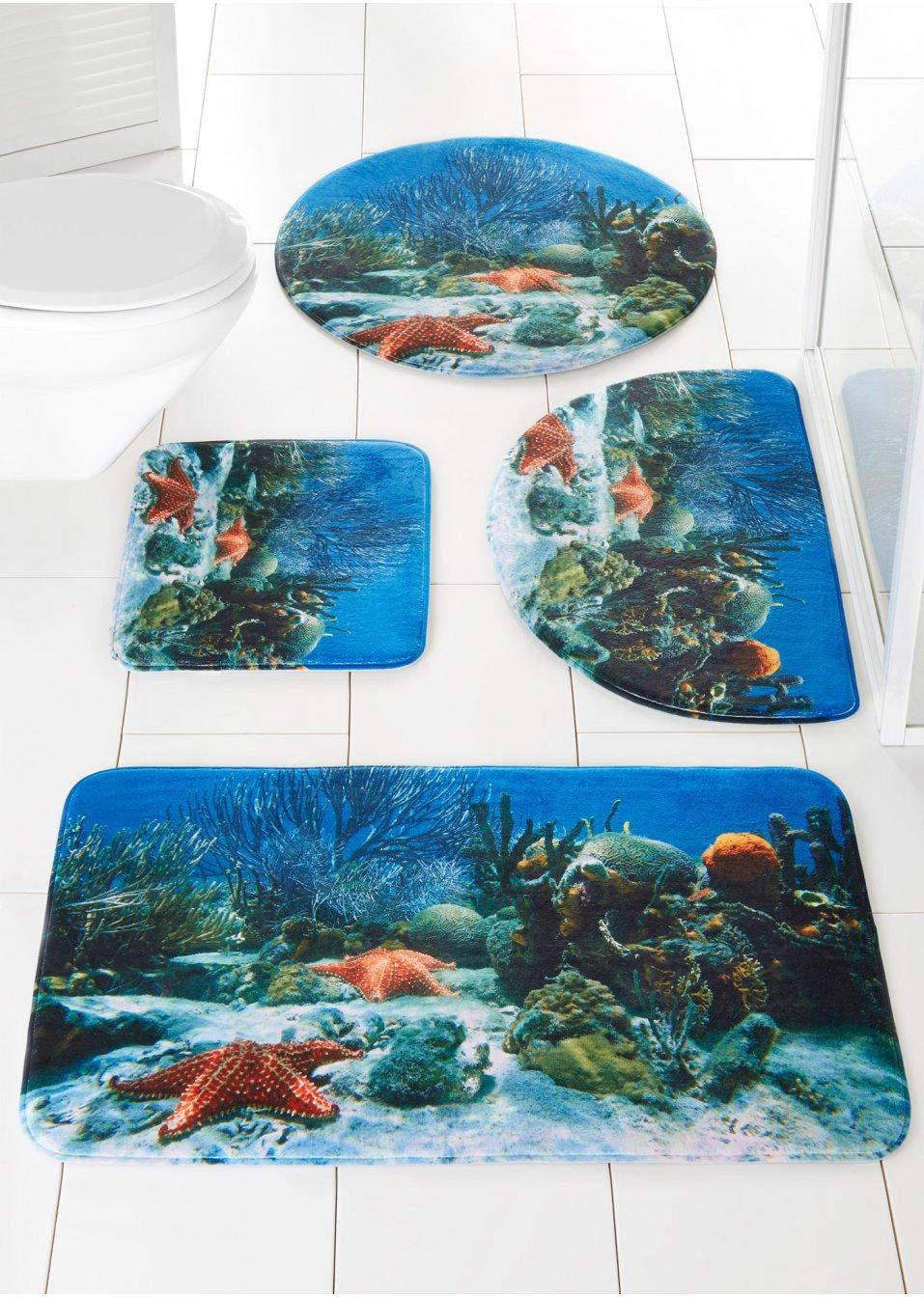 Highlight Fur Meeresfans Badematte Mit Fotodruck Reef Blau
