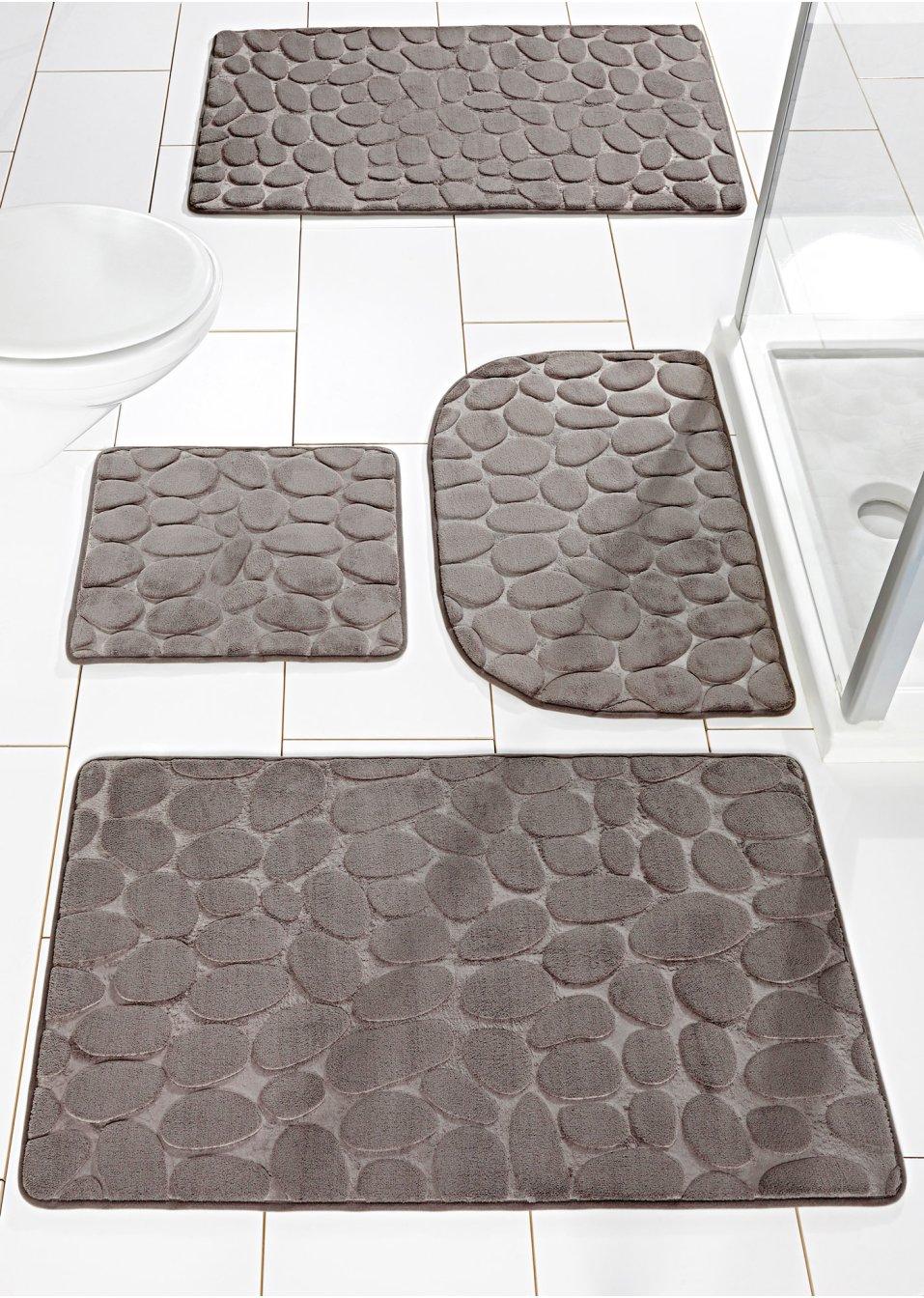 superweiche badematte stone aus memory schaum grau. Black Bedroom Furniture Sets. Home Design Ideas