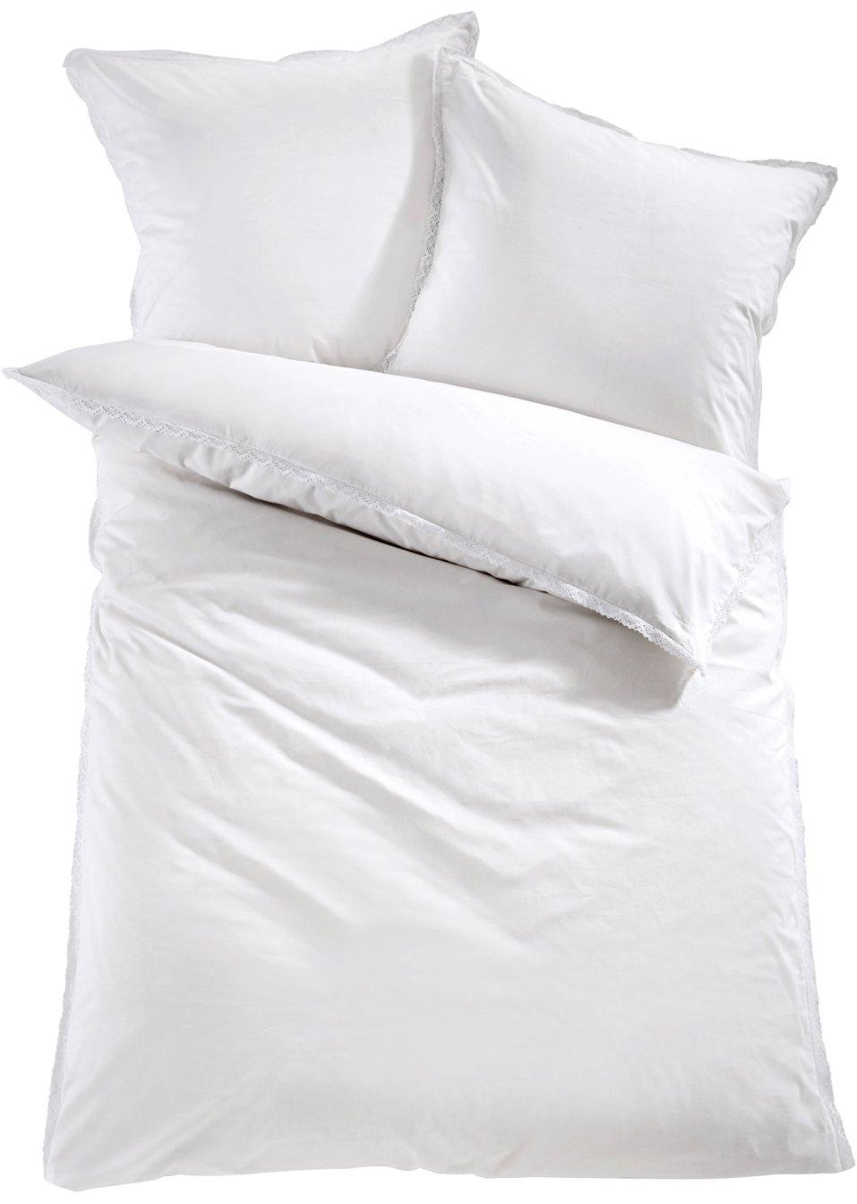 Die Romantische Bettwäsche Spitze Lädt Zum Träumen Ein Weiß