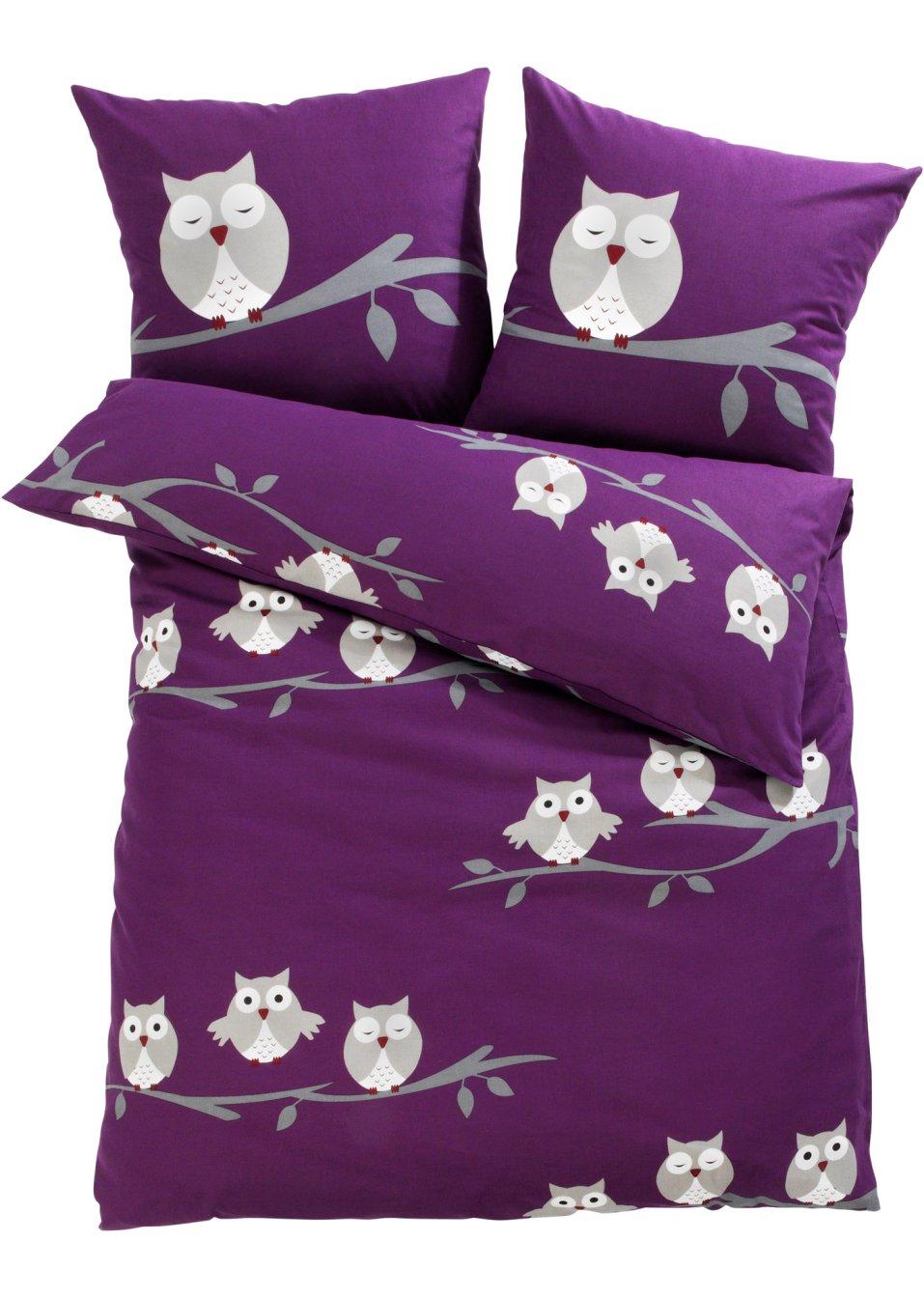 ein sch ner blickfang die bettw sche lea lila linon. Black Bedroom Furniture Sets. Home Design Ideas