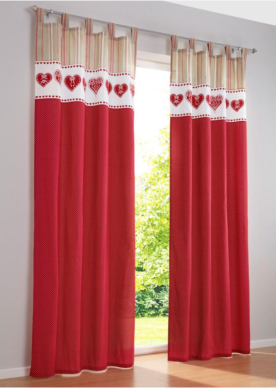 Vorhang mila 1er pack rot wohnen bpc living - Bonprix vorhang ...