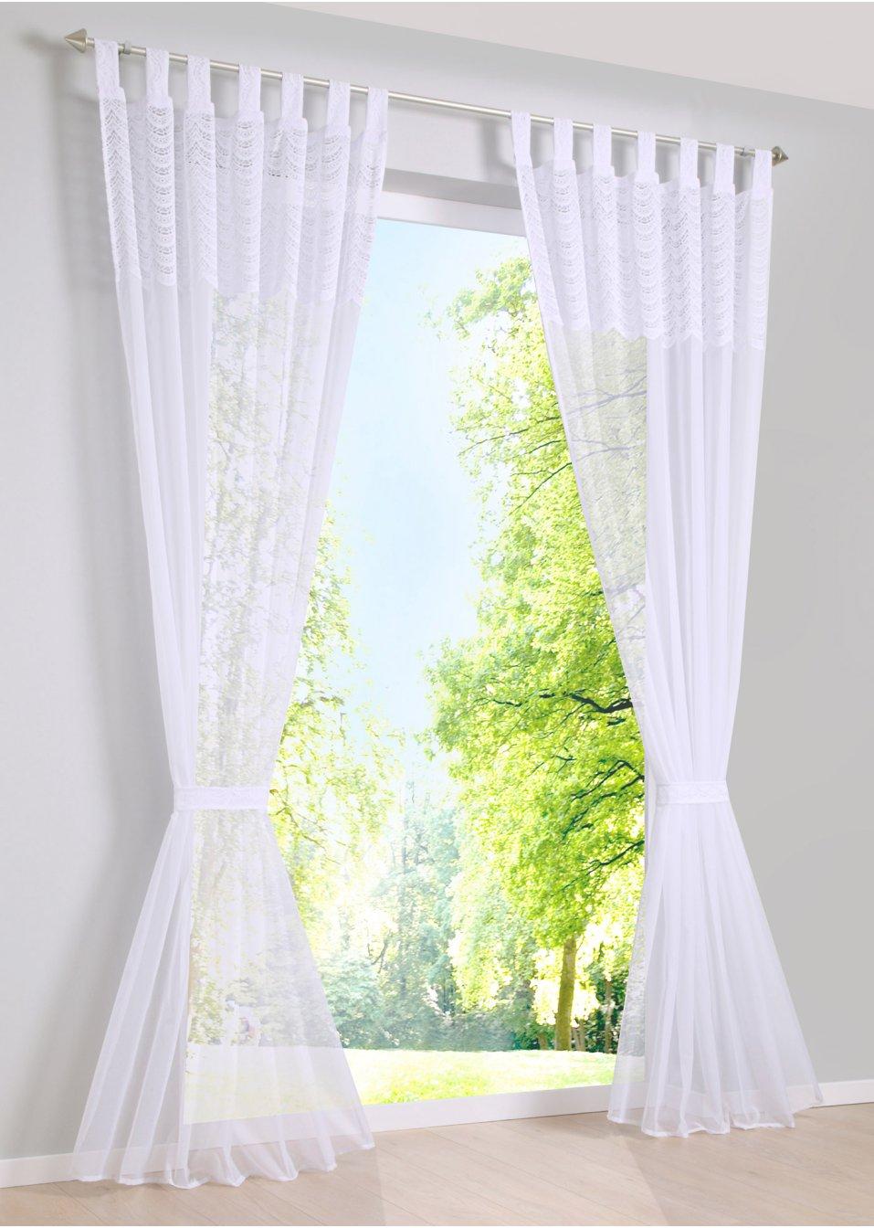 gardine darina 1er pack wei bpc living online kaufen. Black Bedroom Furniture Sets. Home Design Ideas