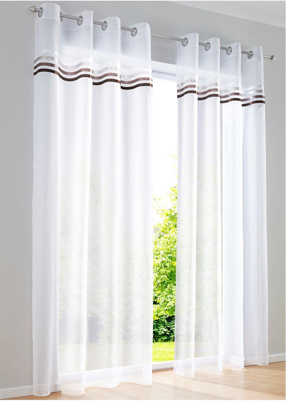 farbige streifen in warmen t nen auf transparenter gardine. Black Bedroom Furniture Sets. Home Design Ideas