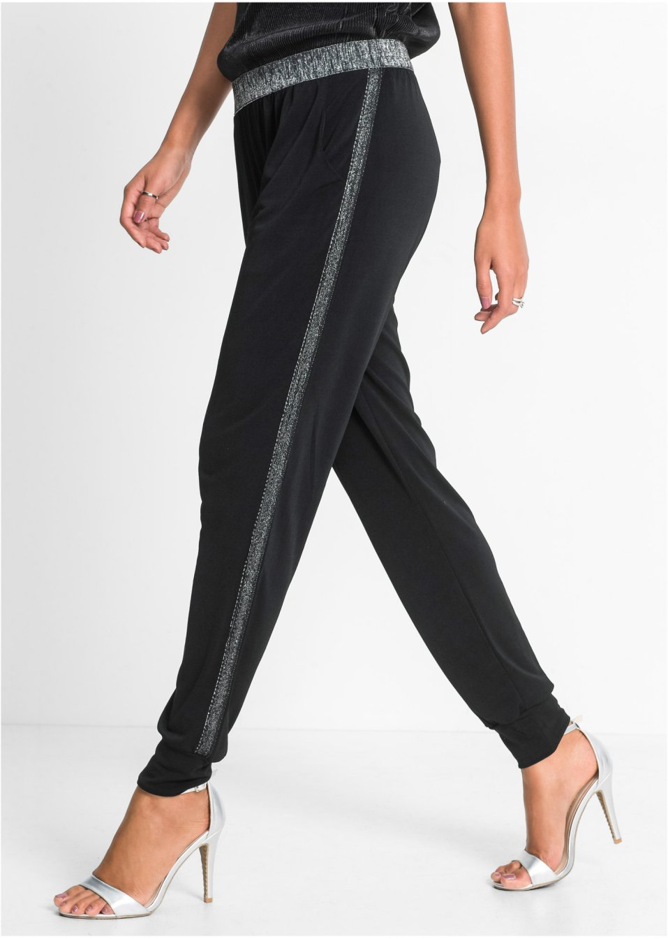klassischer Stil offizieller Verkauf außergewöhnliche Auswahl an Stilen und Farben Hose mit Metallic-Detail