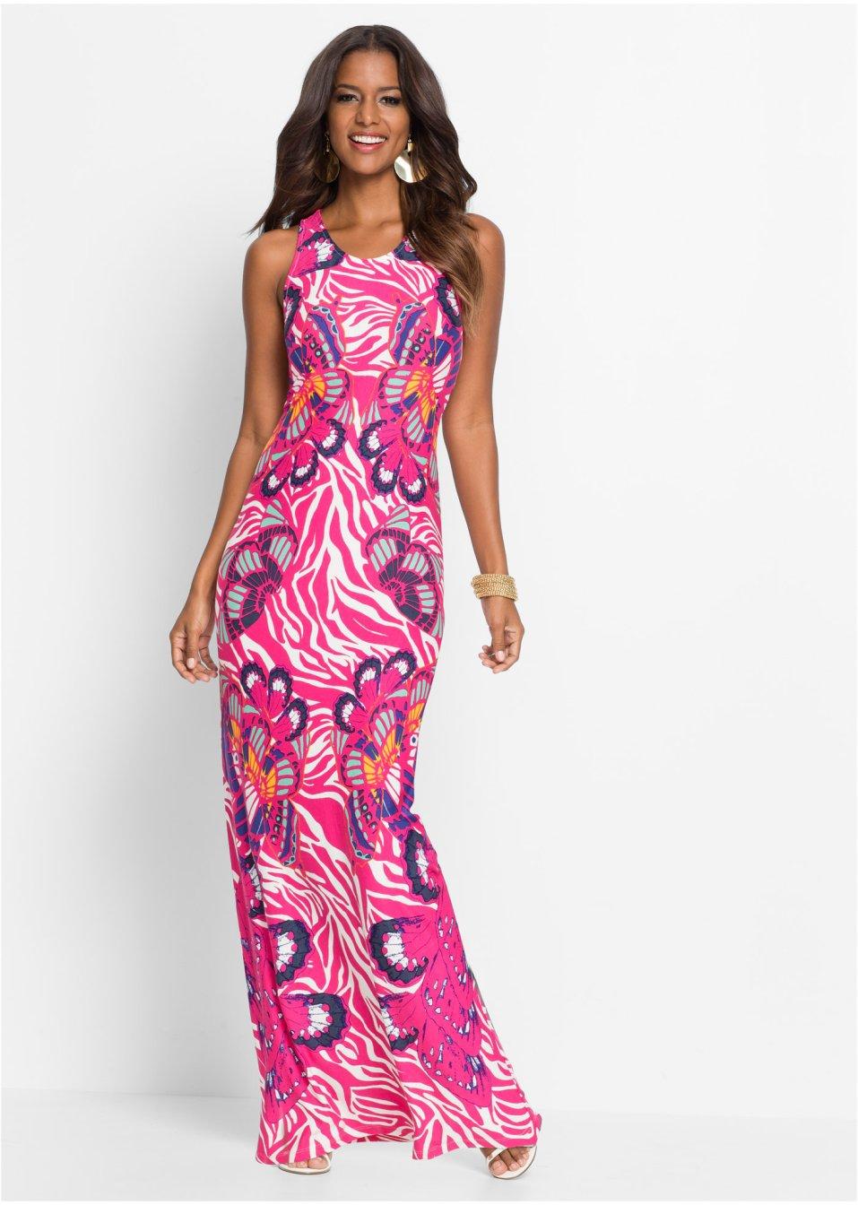 Kleid bunt rosa - Damen - bonprix.de