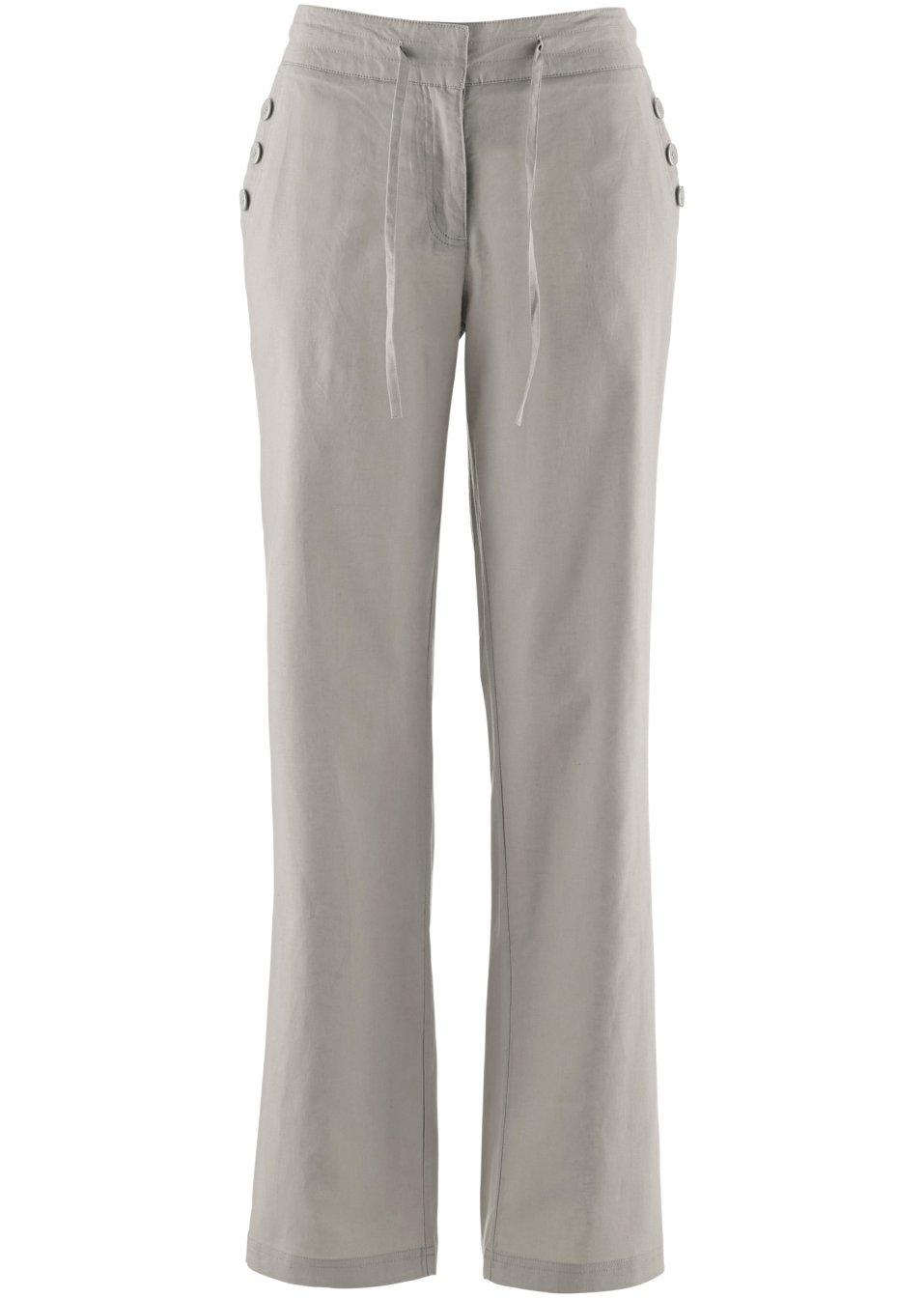 Etwas weiter geschnittene Hose aus hautfreundlichem Leinen - naturstein Eyrpi MEJ6m