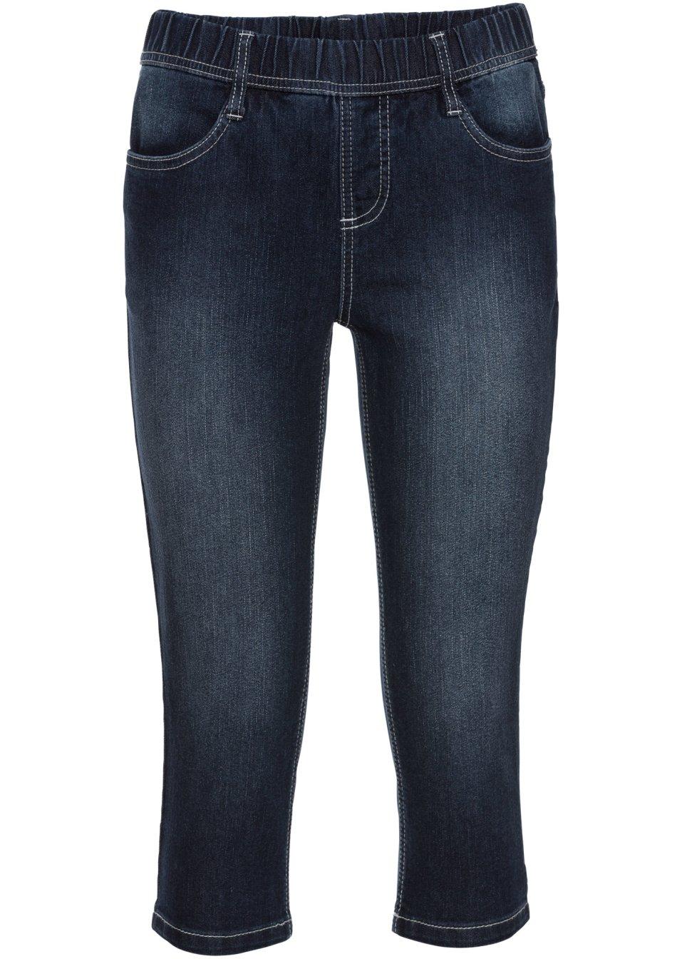 Bequeme Basic-Jeansleggings in attraktiver Capri-Länge - dunkelblau Normal p3HAI KBev7