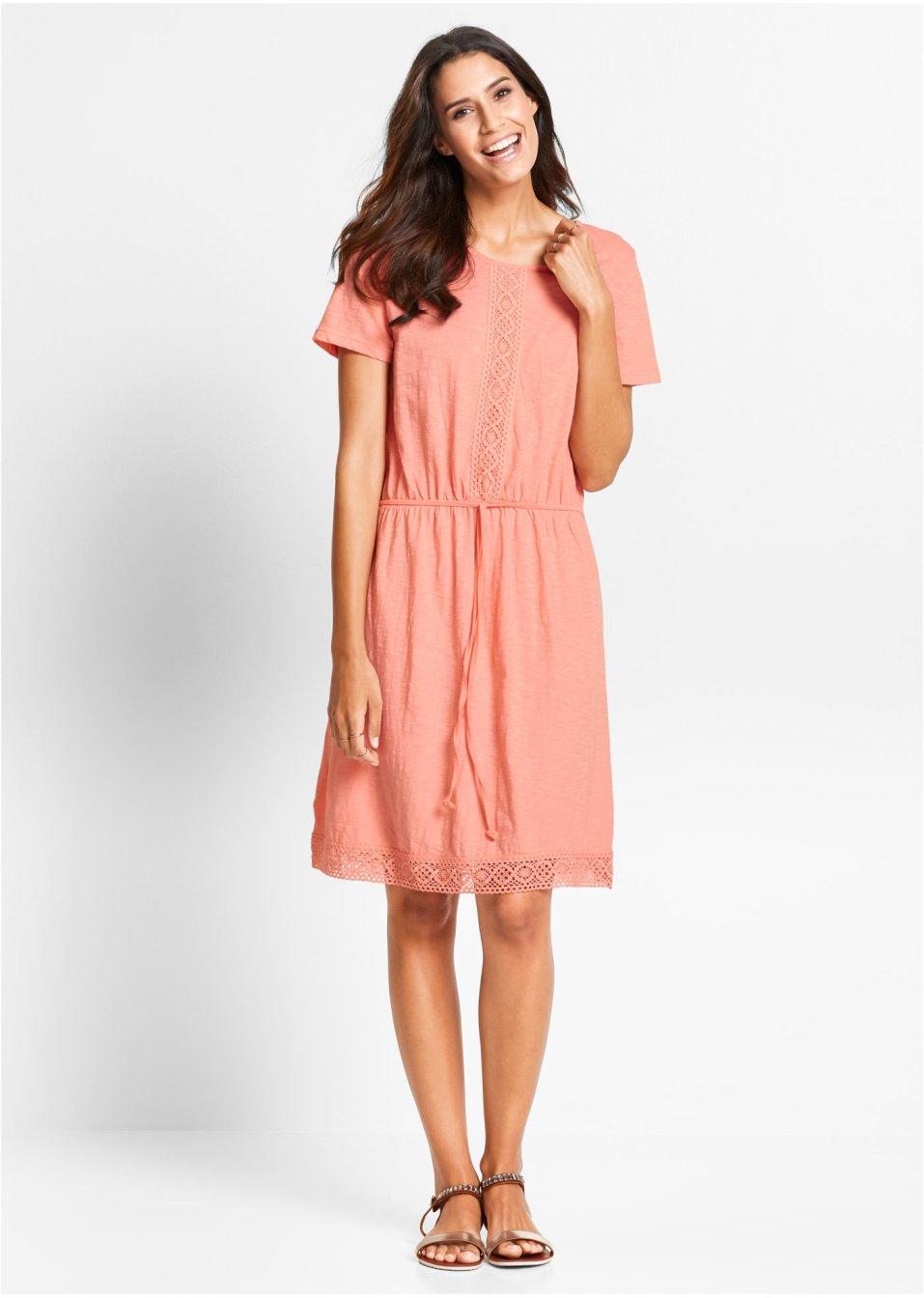 Kleid mit Spitze rot - bpc bonprix collection online ...