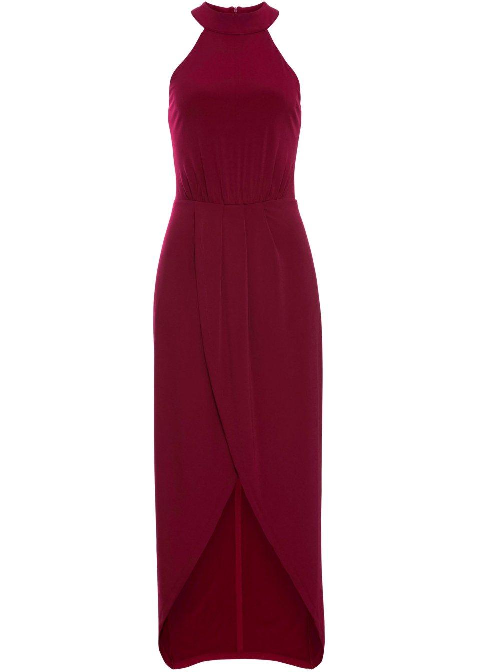 Elegantes Kleid in Wickeloptik - dunkelrot mxck2 0k2Zf