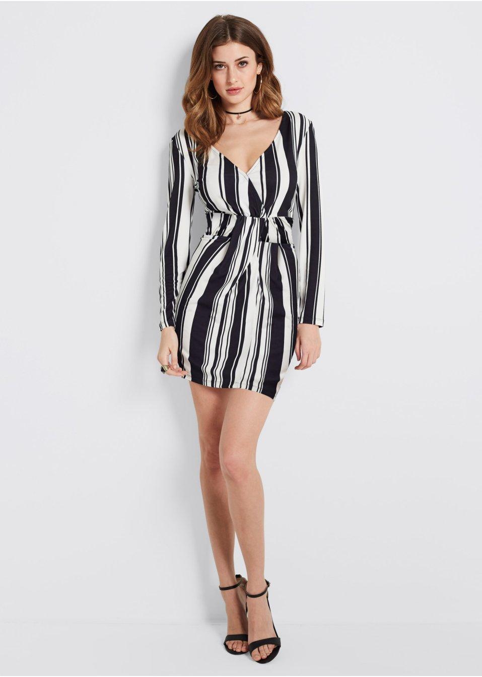 Kleid mit Streifen schwarz/weiß gestreift - Damen - bonprix.de