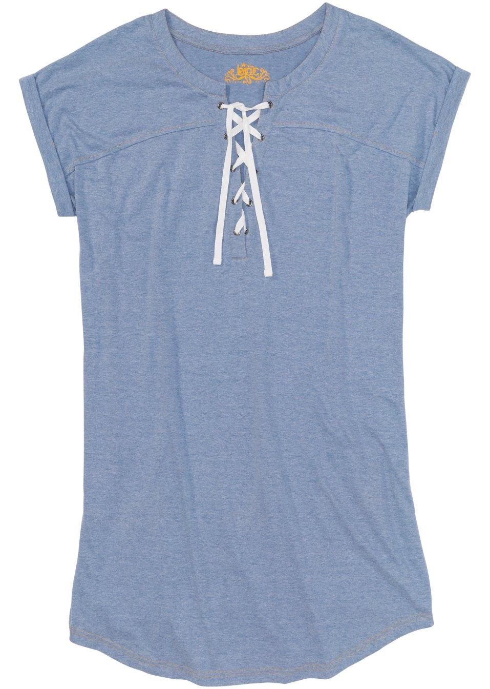 Lässiges Nachthemd in Jeans-Optik - jeansblau meliert 4SVDD bRxdI
