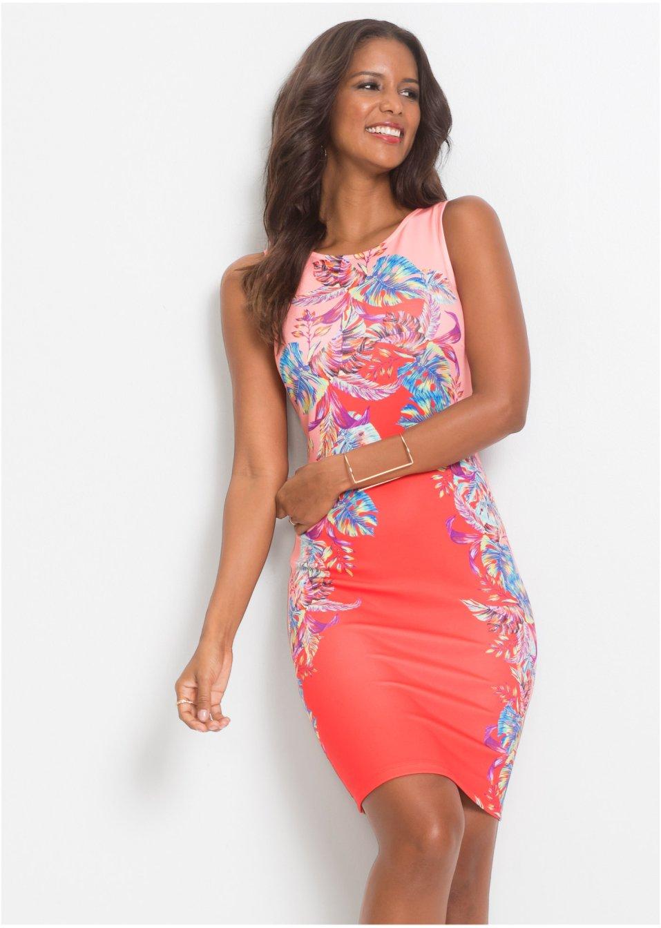 da21d9240ad66b Kleid mit floralem Print rot/pink/blau geblümt - Damen - BODYFLIRT boutique  - bonprix.de