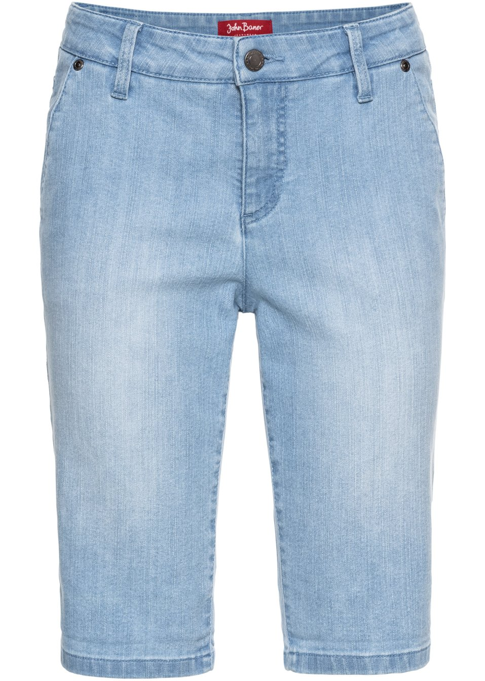 Stretchige Jeans-Bermuda in Basic-Form - hellblau Normal t1kKs UzVNU
