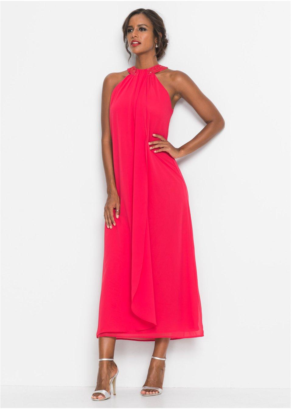 eccc20a2b248b1 Abendkleid mit Applikationen erdbeere - Damen - bonprix.de
