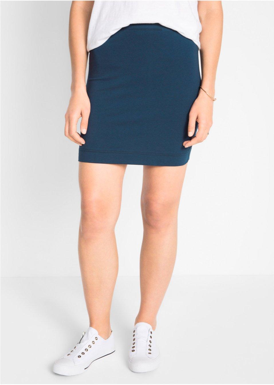 Modischer Shirtrock aus Stretch im Doppelpack - dunkelblau+schwarz 79d69880cd