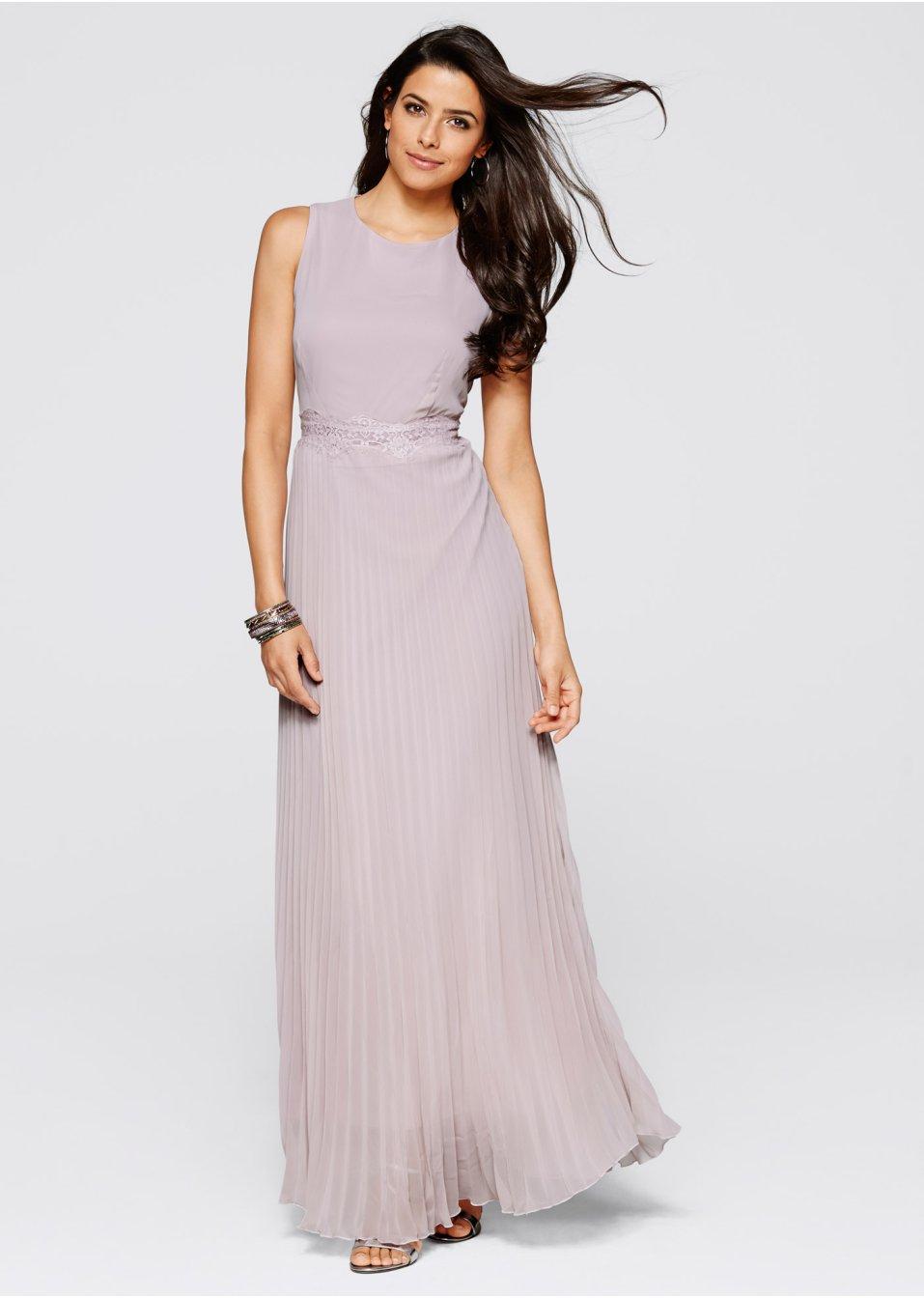 Bezauberndes Kleid mit Spitzenverzierung in der Taille und ...