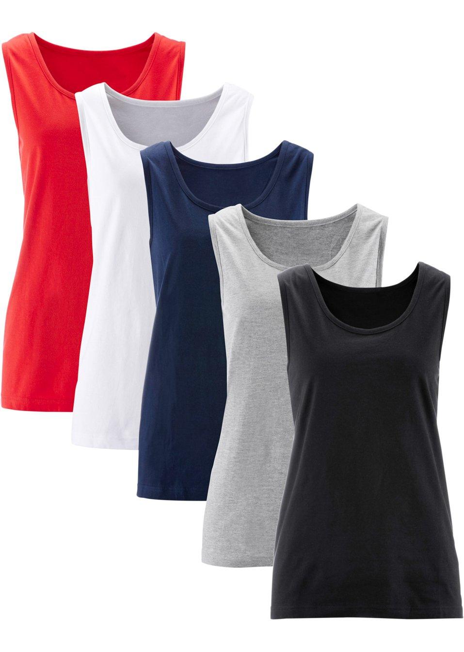 Bequemes Long-Top in Single Jersey - erdbeere + schwarz + weiß + hellgrau meliert + dunkelblau 8gJGW gJbzq