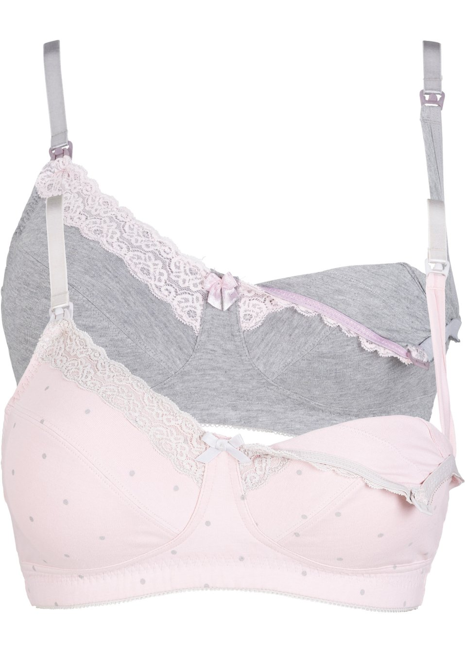 Still BH (2er Pack) Bio-Baumwolle graumeliert + rosa - bpc bonprix collection - Nice Size - bonprix.de XAo0l 58GQq