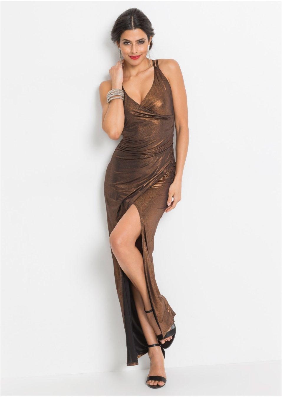 Abendkleid braun damen - Festliche kleider bonprix ...