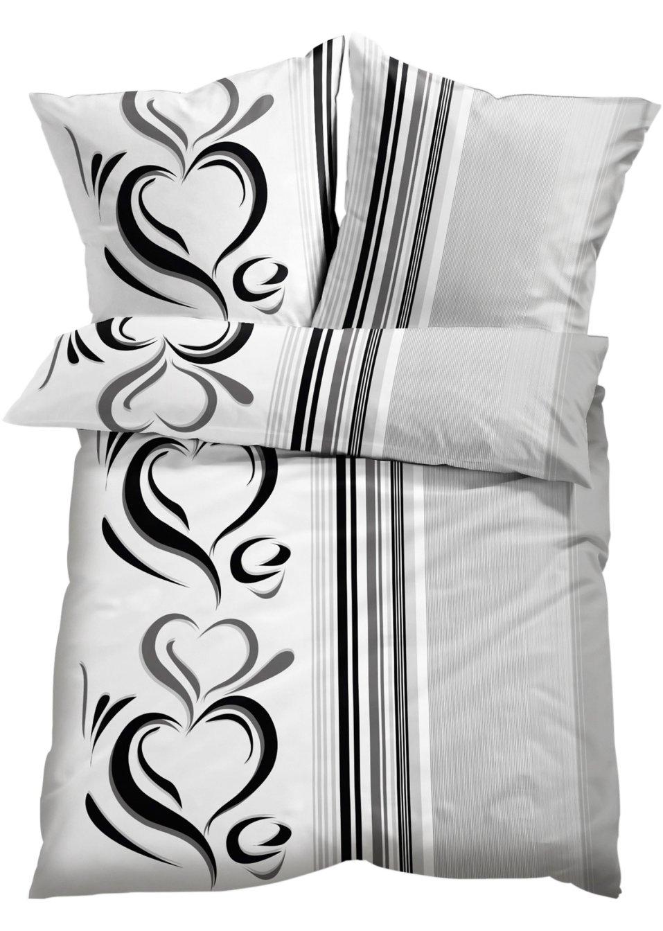 highlight im schlafbereich die bettw sche casandra grau linon. Black Bedroom Furniture Sets. Home Design Ideas