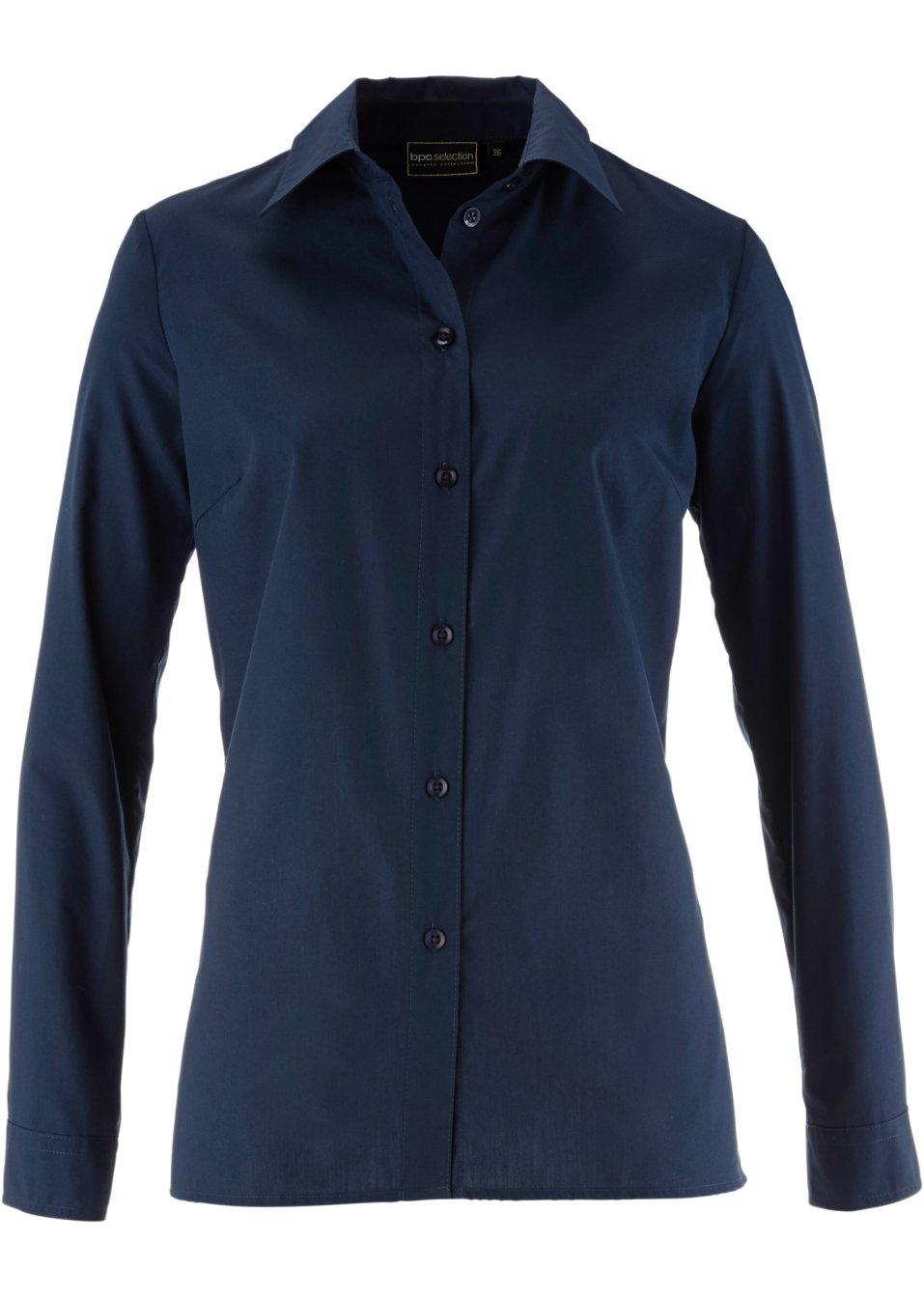 Klassisch-moderne Bluse mit Kent-Kragen - dunkelblau 9sIa2 zm3mA