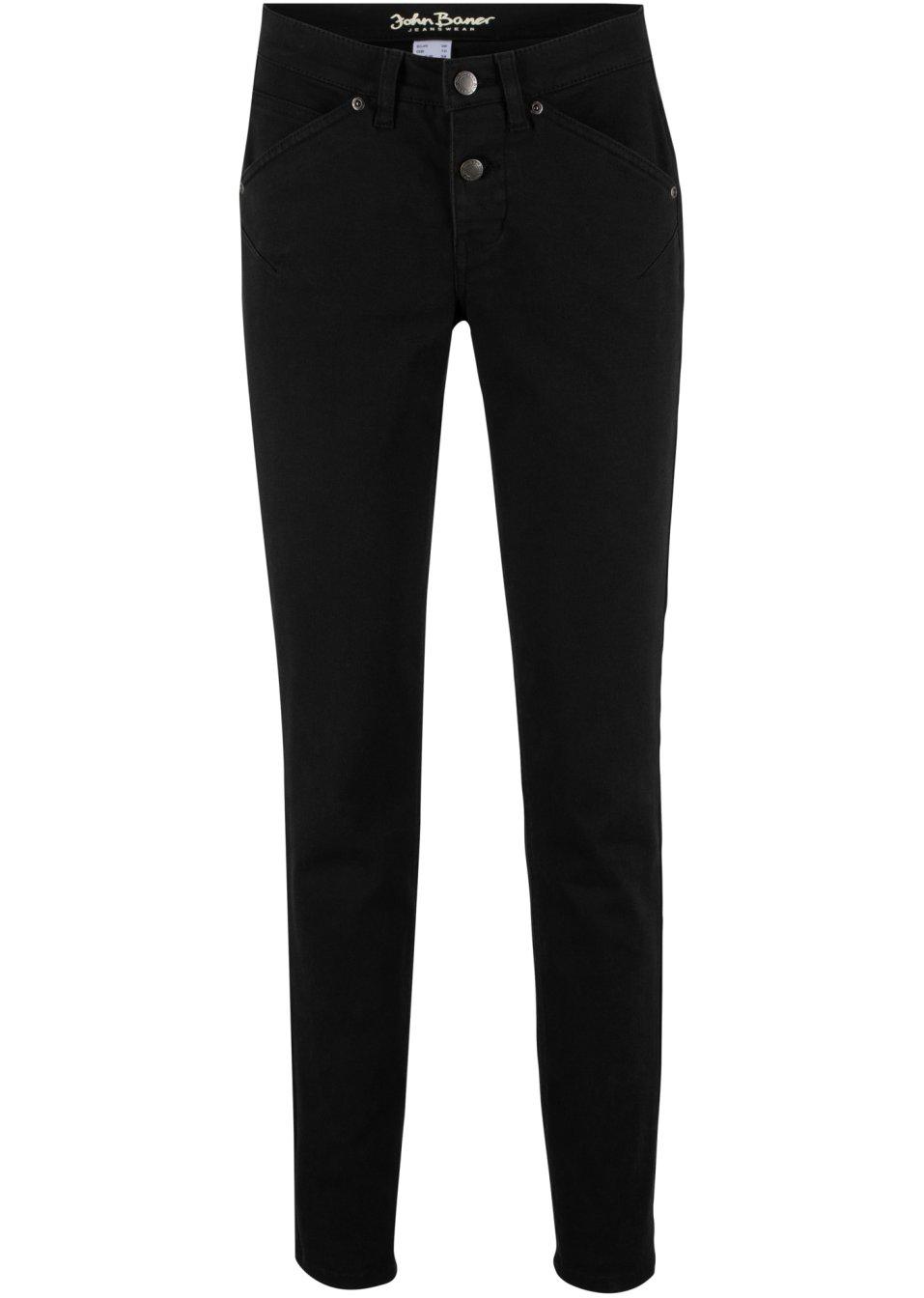 Basic-Stretch-Jeans aus klassischem Denim - schwarz twill Kurz q5BCD BXYgP