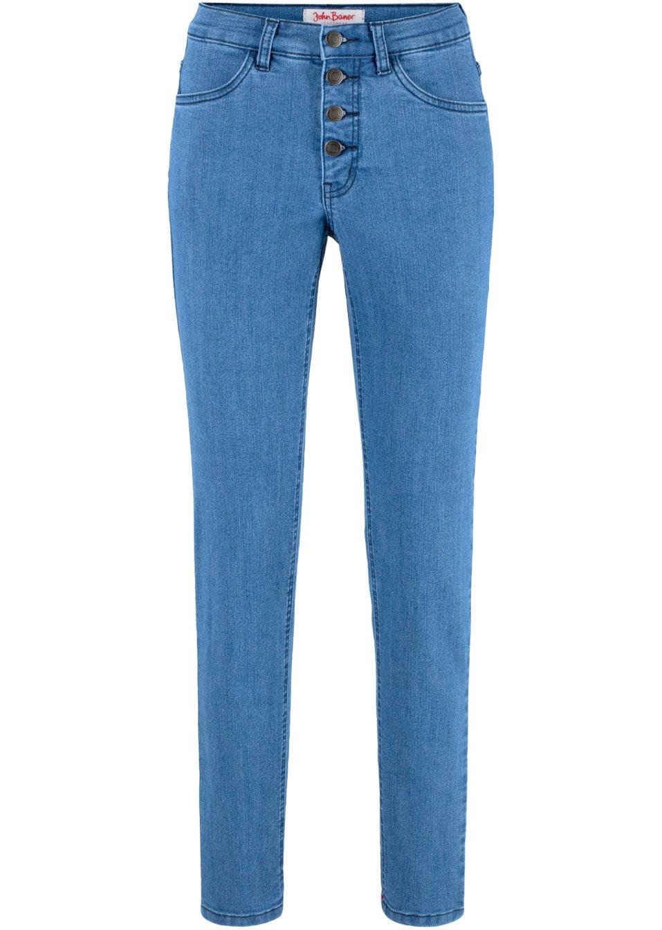 Basic-Komfort-Stretch-Jeans - blau Kurz GoALE xwjGe