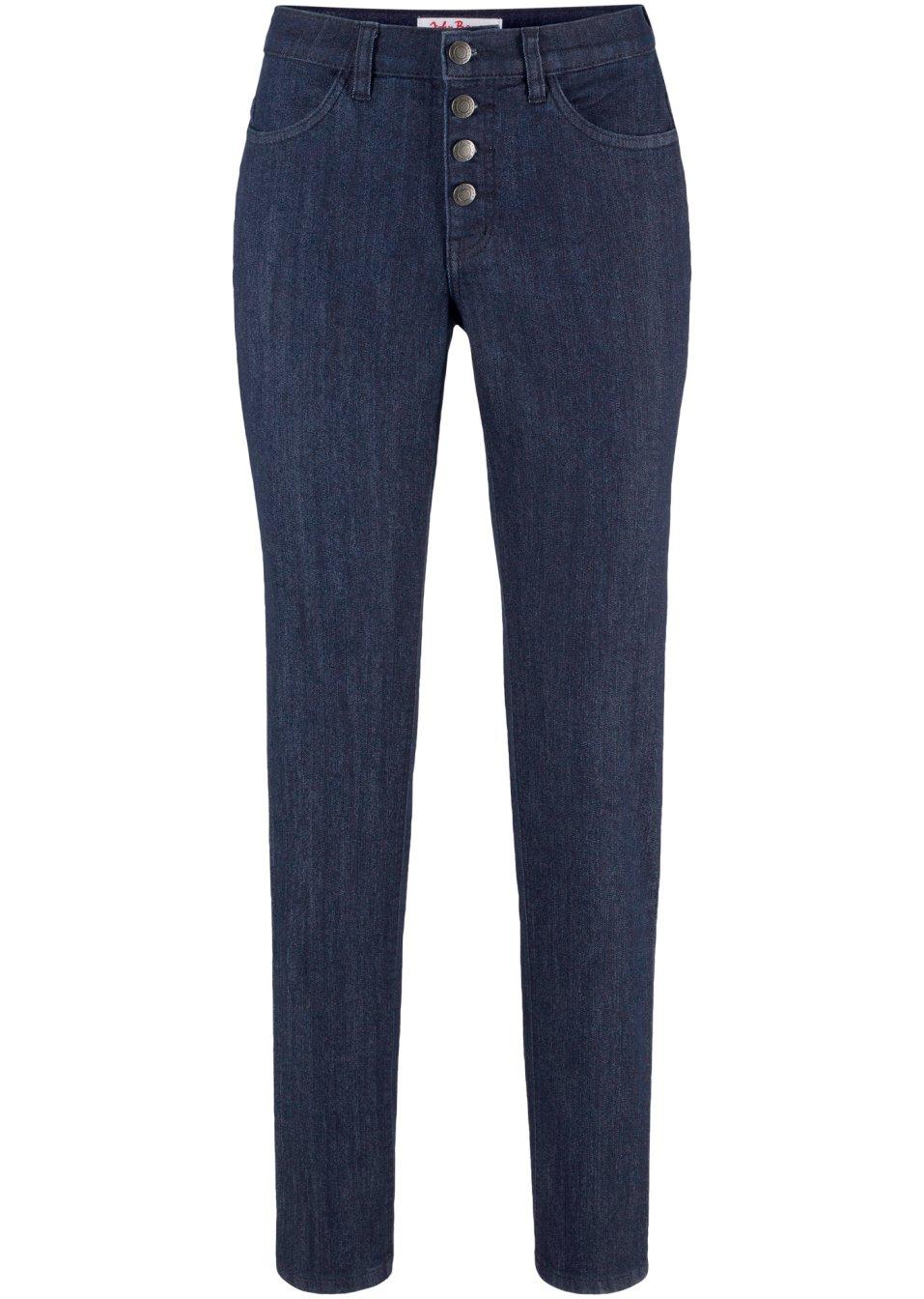 Basic-Komfort-Stretch-Jeans - dunkelblau Normal F3RpZ n7Nh1