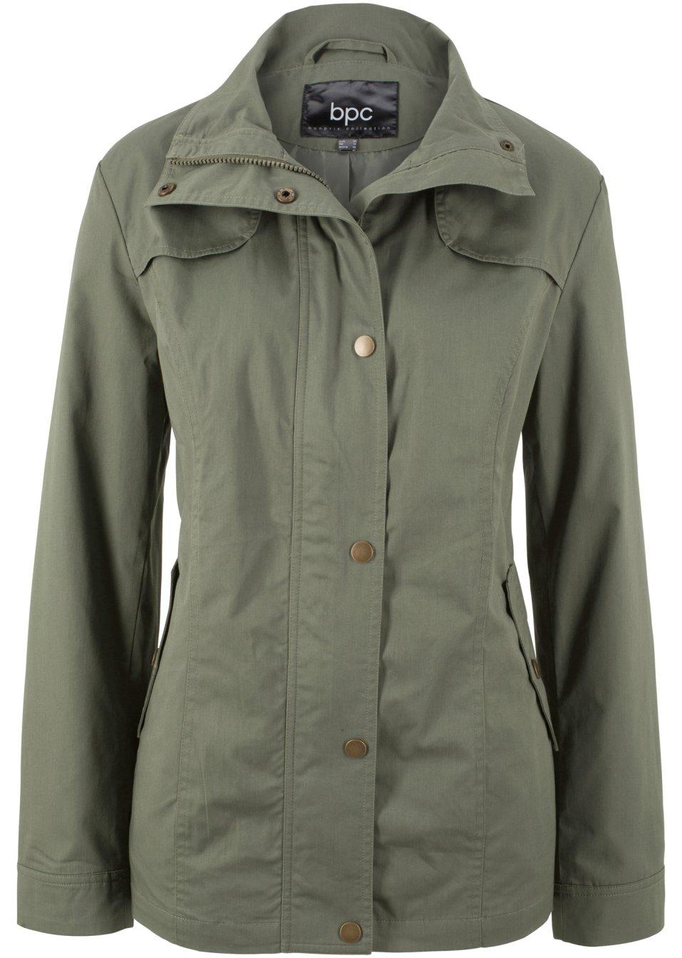 Komfortable Jacke mit Seitentaschen - oliv g9UhF P8N7B
