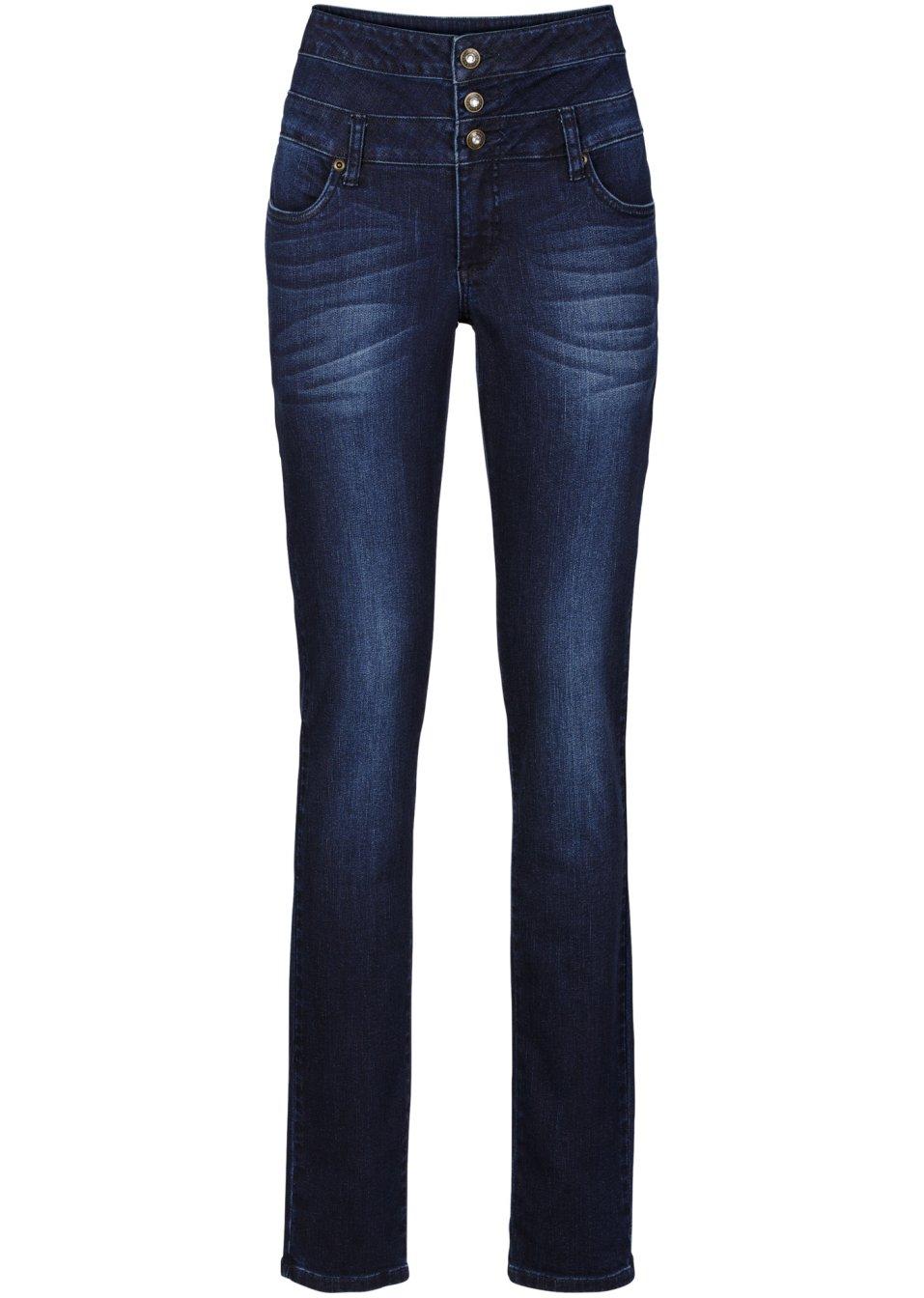 Coole Skinny Jeans mit Knopfverschluss - dark denim 500cC fzVcJ