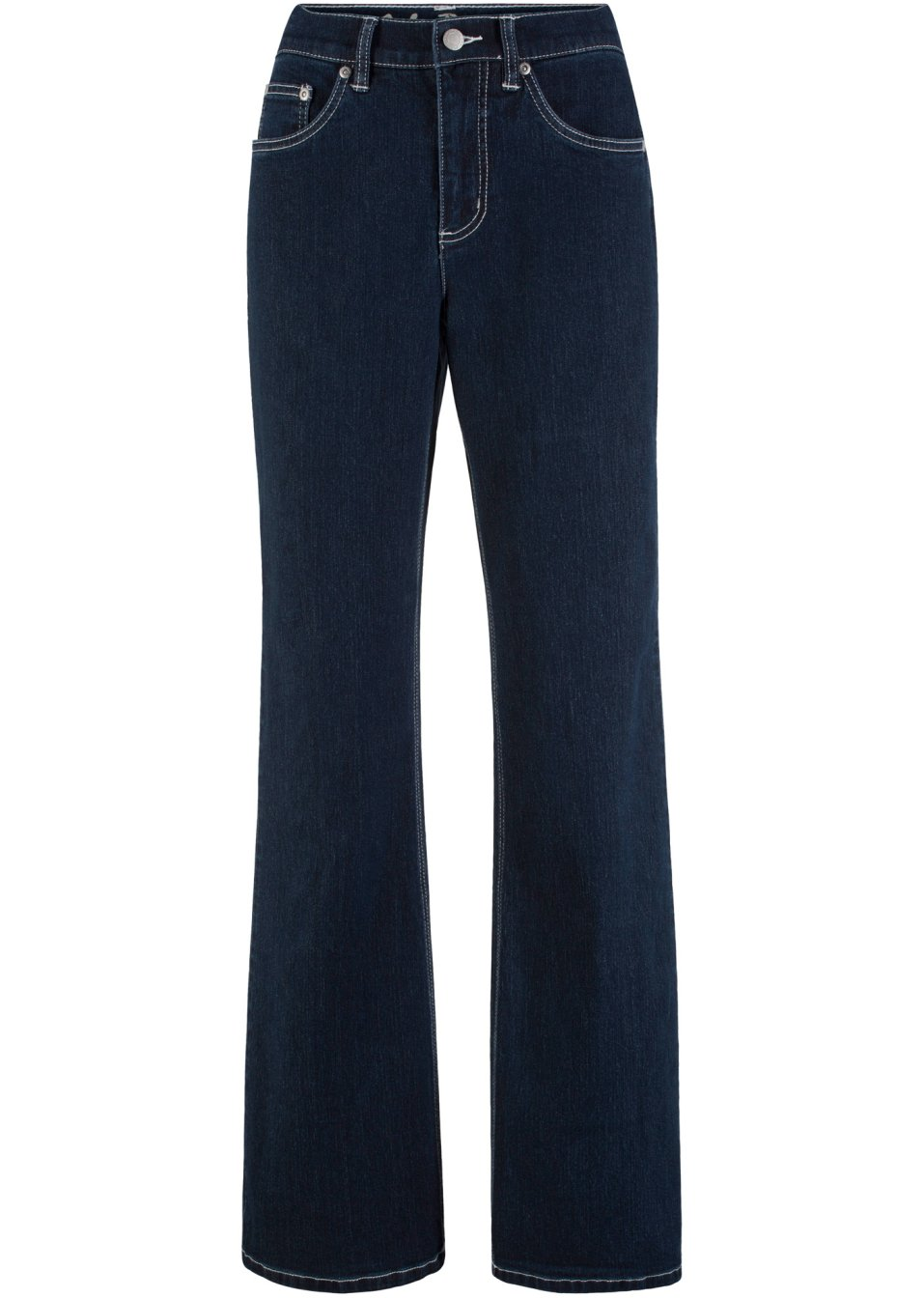 Basic-Komfort-Stretch-Jeans mit hoher Taille - dunkelblau Normal Jj5rb VquEE