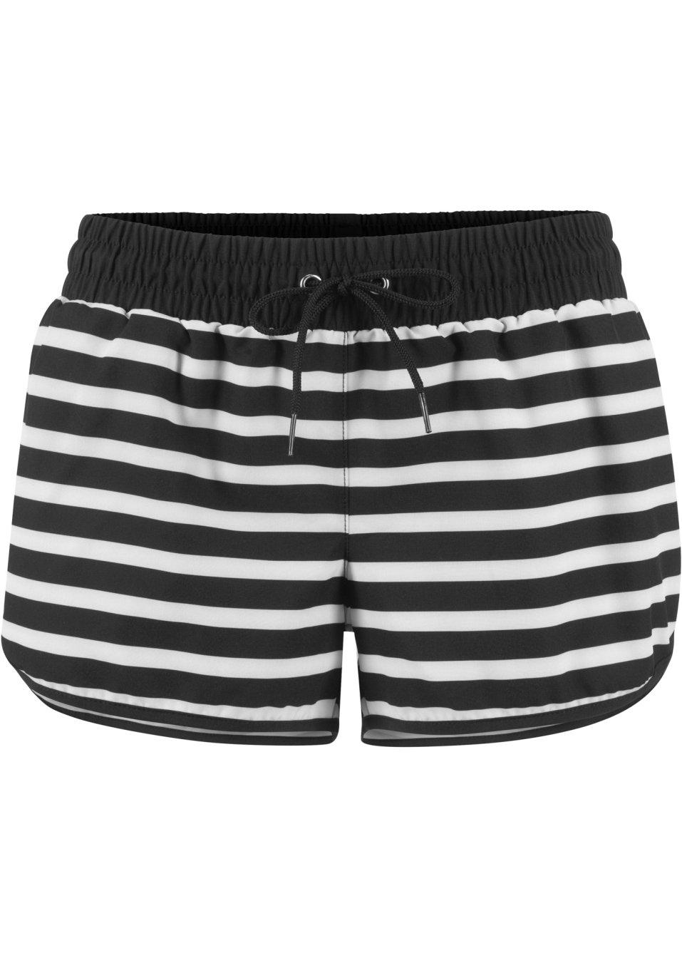 Leichter Strandshorts mit elastischem Bund - schwarz/weiß 9FyN2 pIHgK