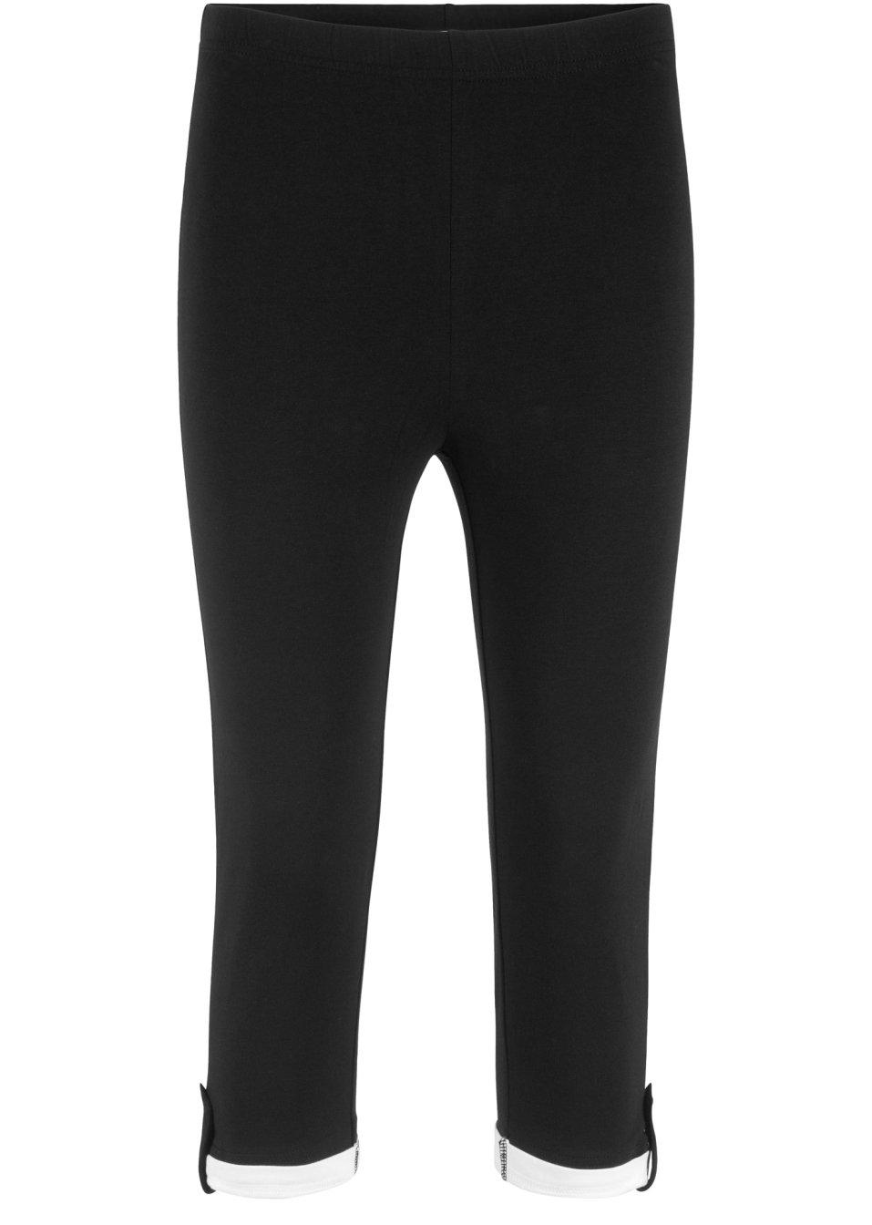 Bequeme Basic-Capri-Leggings - schwarz TTqST Ocsxm