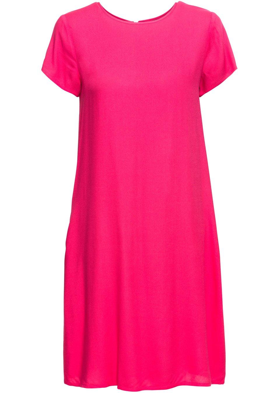 Kurzes Kleid mit Reißverschluss hinten und Taschen - hibiskuspink 66FEK rQLw4