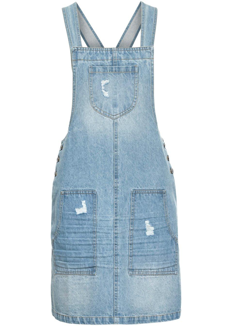 Modisches Jeanskleid mit großen Taschen - blue stone L6dU1 bSSjX