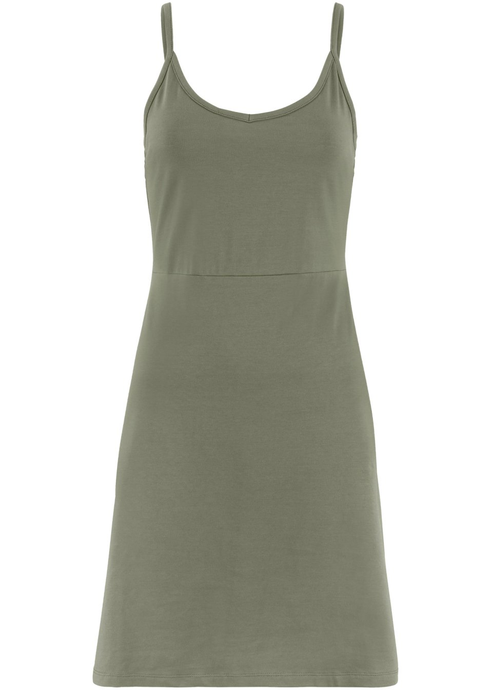 Sommer-Jerseykleid mit verstellbaren Trägern oliv - bpc bonprix collection - bonprix.de 02rhC BsiOA