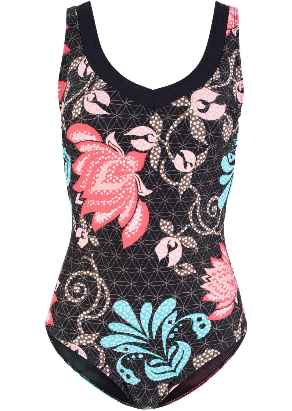 Attraktiver Shape Badeanzug aus figurformendem Material - schwarz/rosa mR2GQ Jz5Nc