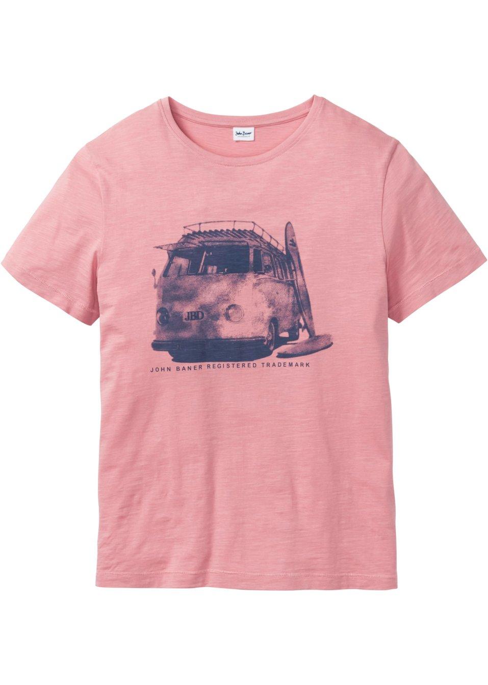T-Shirt aus Slubyarn mit Druck vorne. - rauchrose YG3ct t3aoq