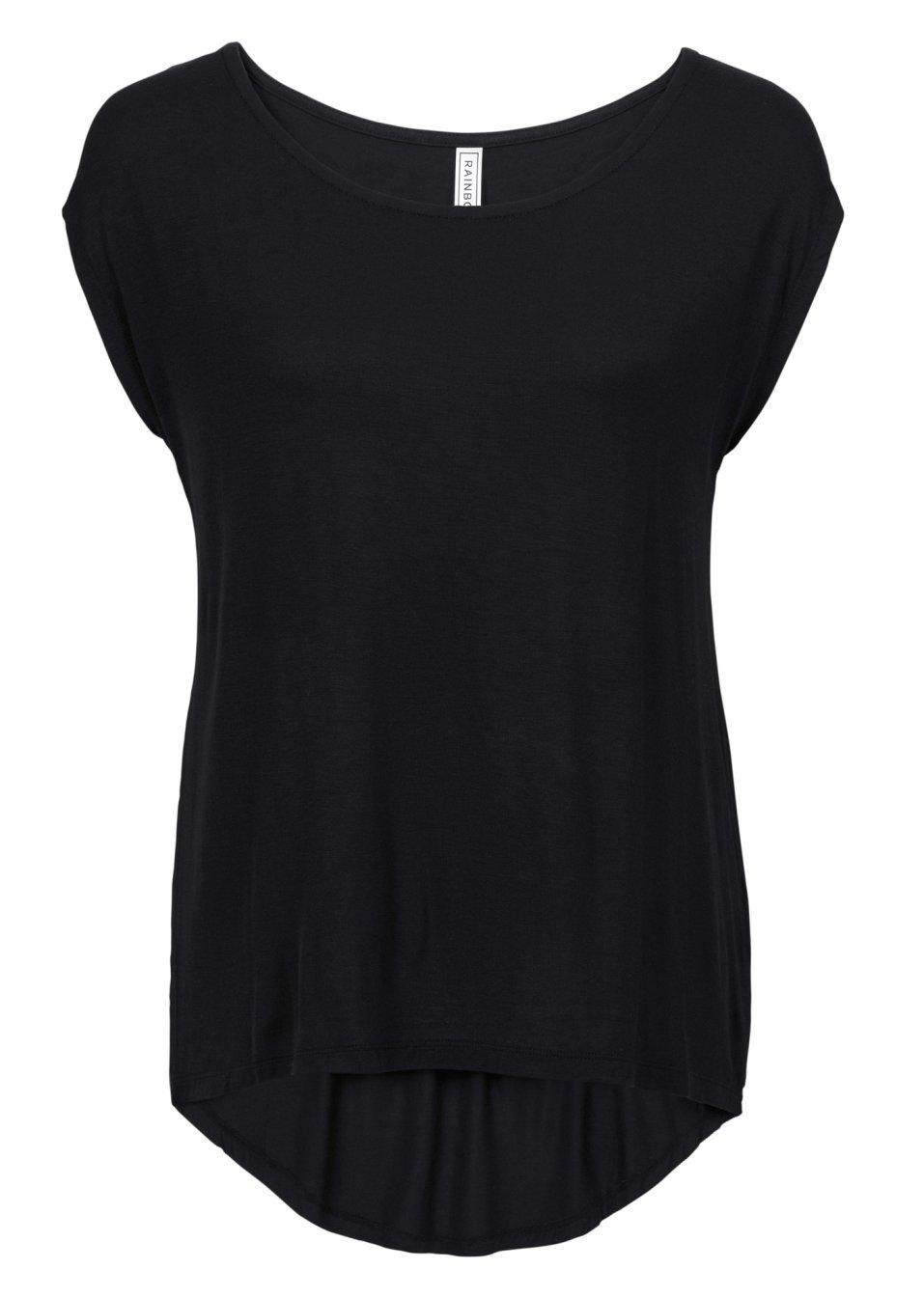 Trendstarkes Shirt mit Druck - schwarz sXWPT nMND3