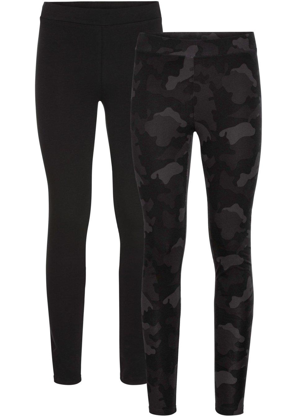 Vielseitig kombinierbare Leggings im Doppelpack - schwarz camouflage rBQnM KOzaG