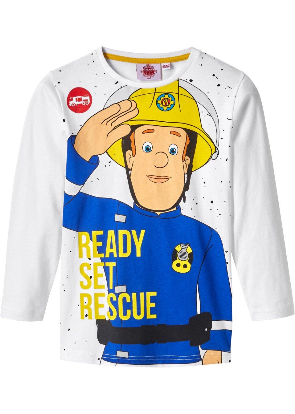 Feuerwehrmann Sam Langarmshirt Shirt Jungen