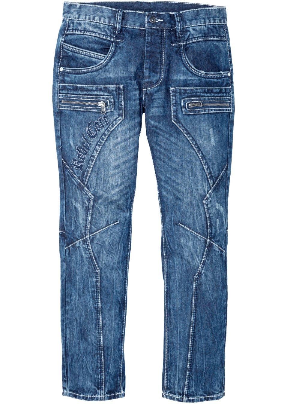 Ausgefallene Jeans mit Naht- und Stickereidetails - blue Länge 32 uIPjs QQXdQ